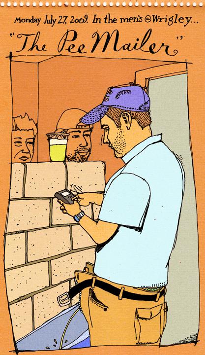 Pee Mail A Blackberry In Wrigley Field Men S Room Cubby