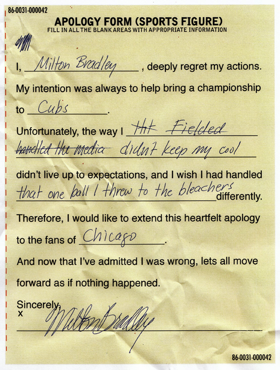 Milton Apology