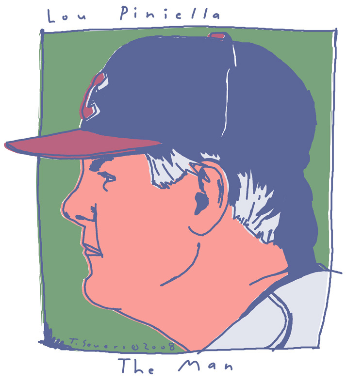 Lou Piniella Playoff Portrait