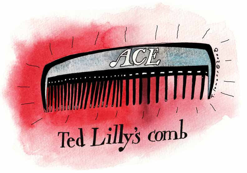 Ted Lilly's comb