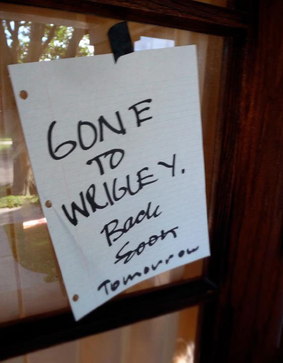 Gone to wrigley