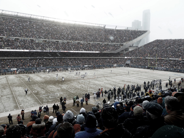 Snowy Soldier Field
