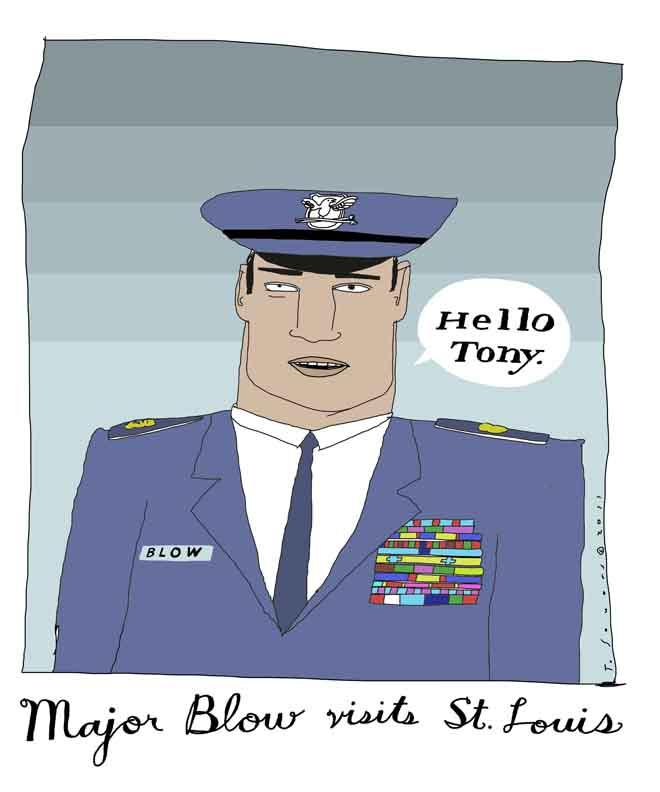 Major Blow, Cartoon, art image, illustration