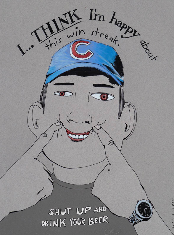 Chicago cubs, cubby blue, art image, image, illustration