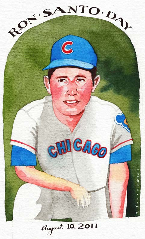 Ron Santo, painting, art image, chicago cubs, ron santo day