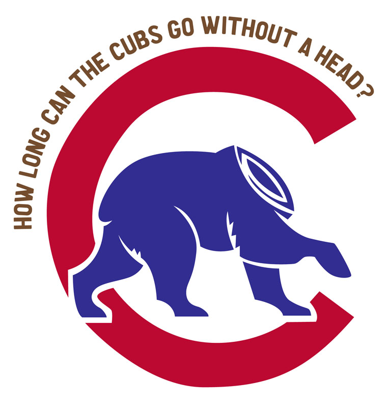Chicago Cubs Logo, headless, bear