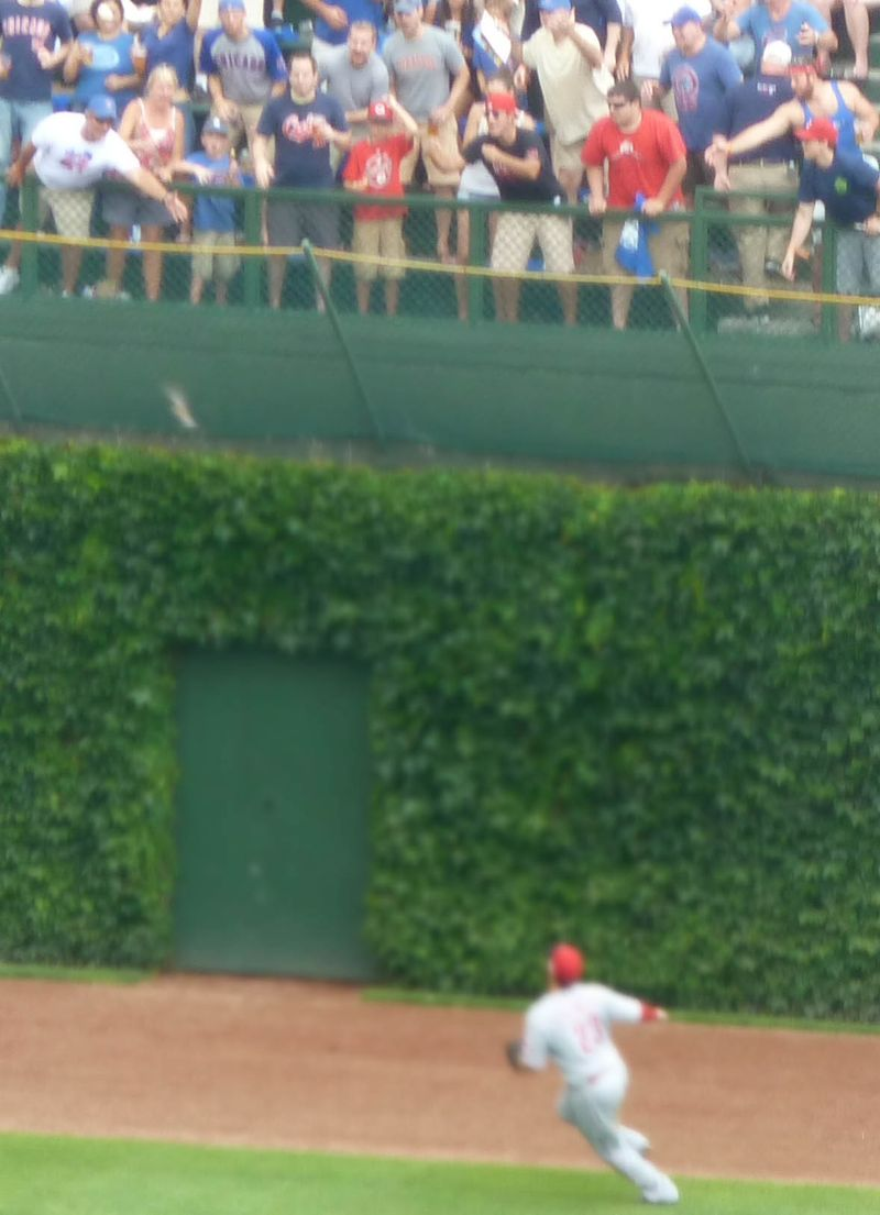 Wirgley field, chicago cubs, double off the ivy