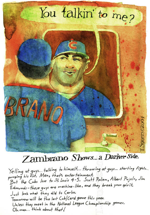 Carlos Zambrano, chicago cubs, 2004, taxi driver movie, caroon