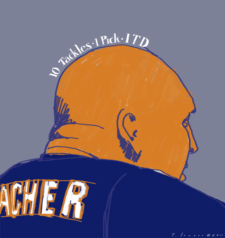 Brian-Urlacher,-Chicago-Bears,-art-image,-illustration