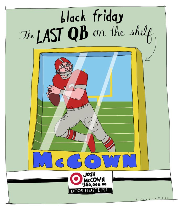 Josh McCown, illustration, cartoon, chicago bears