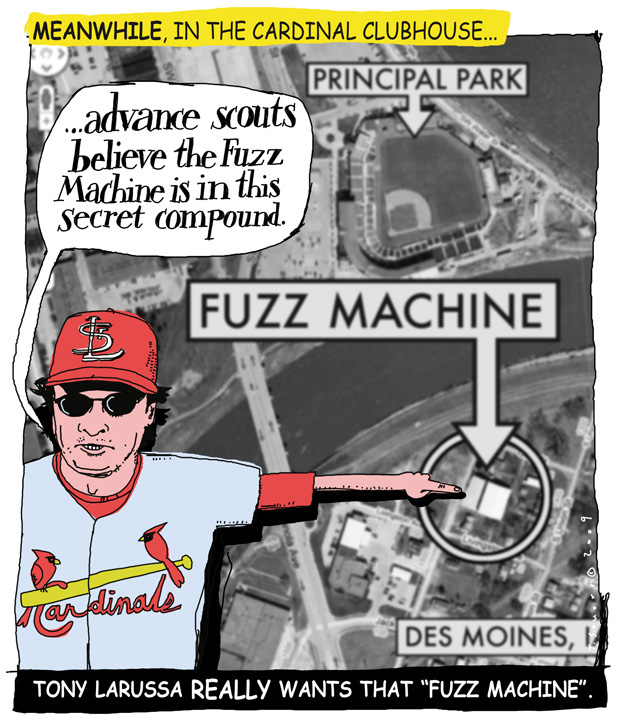 Tony LaRussa, Fuzz Machine, Von Joshua, cartoon