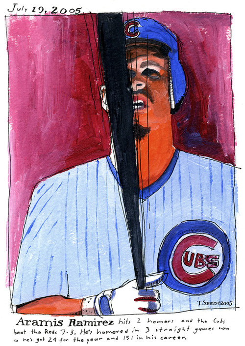 Aramis Ramirez, Chicago Cubs, Illustration