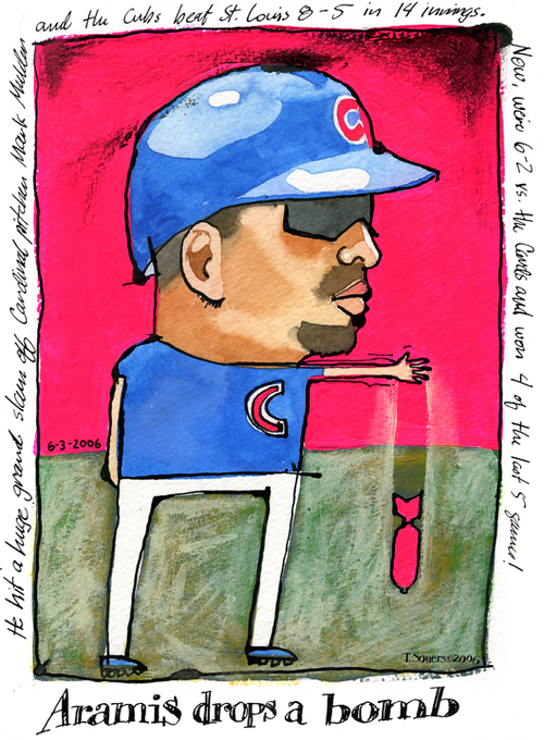 Aramis Ramirez, bomb, chicago cubs, cartoon