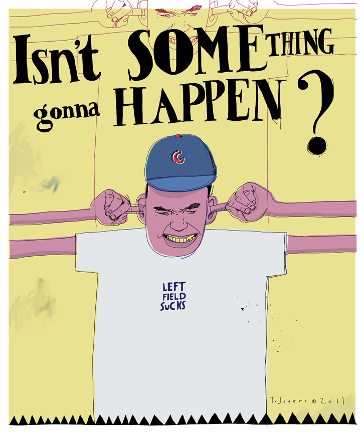 Isn't something gonna happen, Chicago Cubs, cartoon, art image