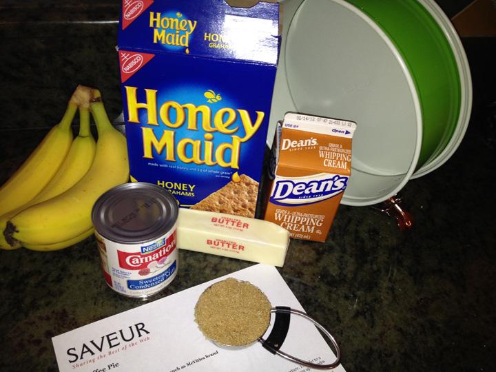 Banoffee Pie ingredients