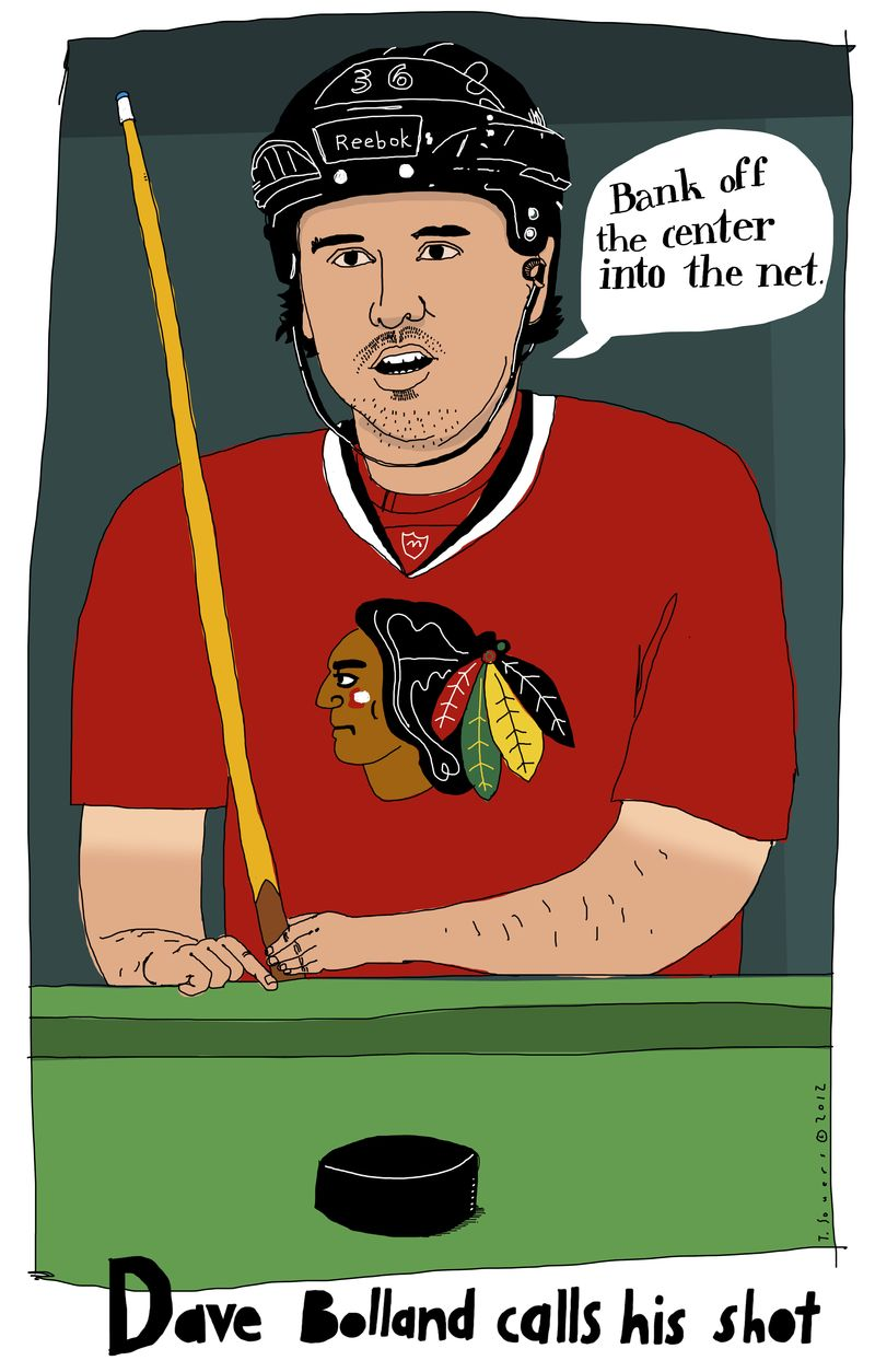 Dave bolland, chicago blackhawks,cartoon,illustration