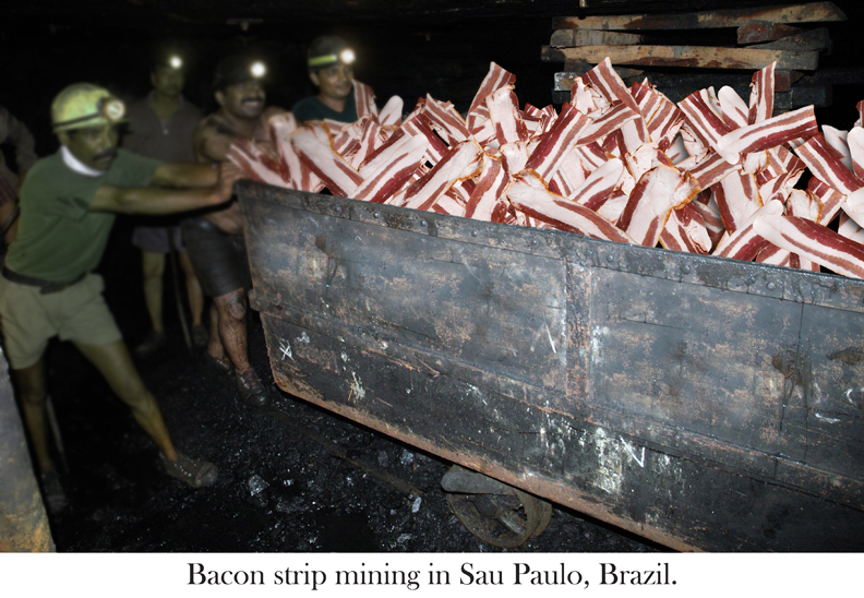 Bacon mining car