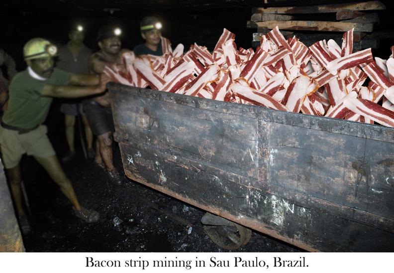 Bacon mining car