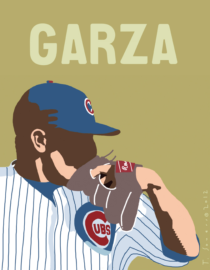 Matt Garza,chicago cubs,illustration,cartoon,art image