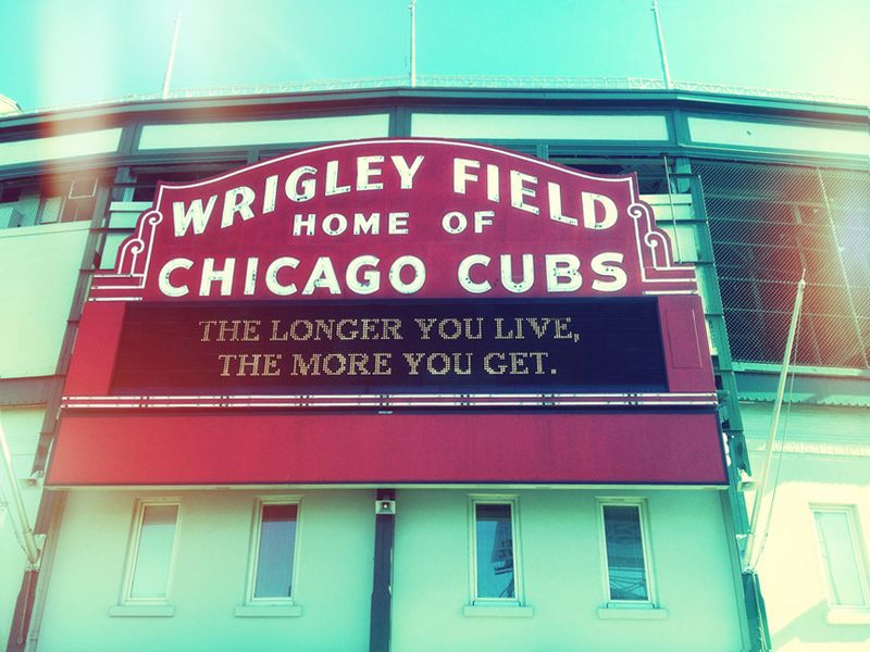 Wrigley field sign,2012,home of chicago cubs