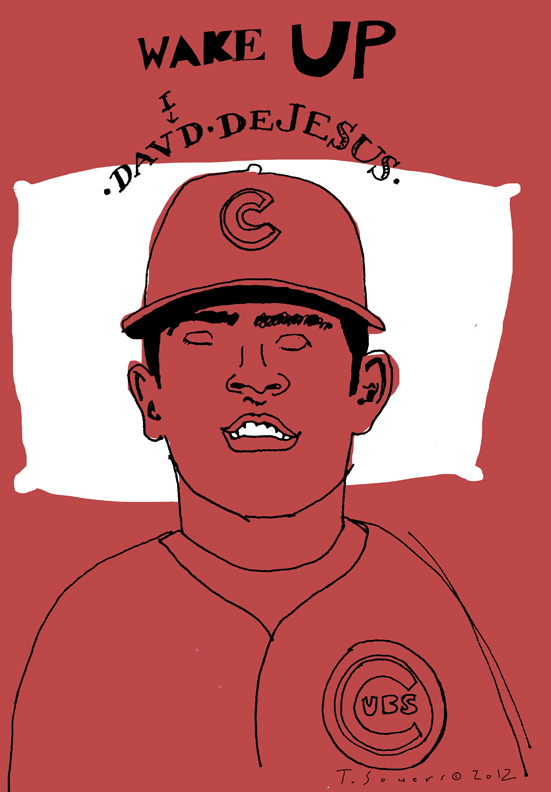 David DeJesus,chicago cubs,illustration,cartoon