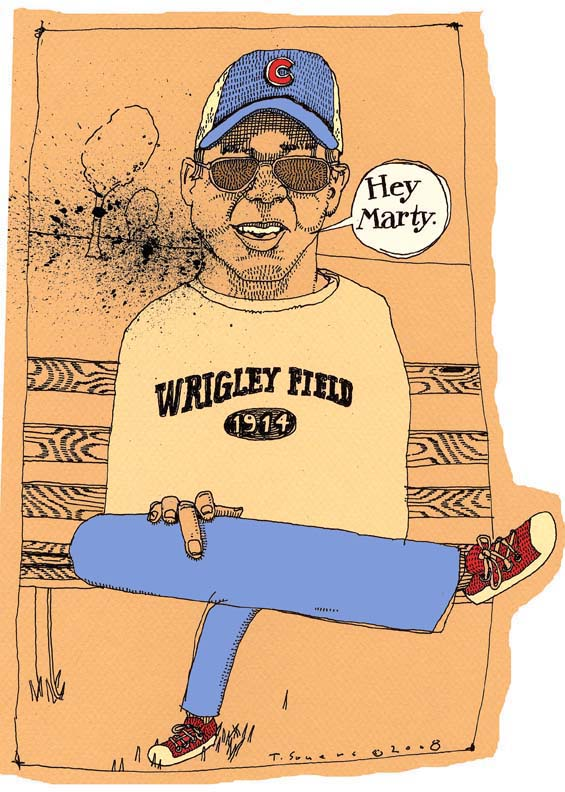 Cub fan,cartoon,