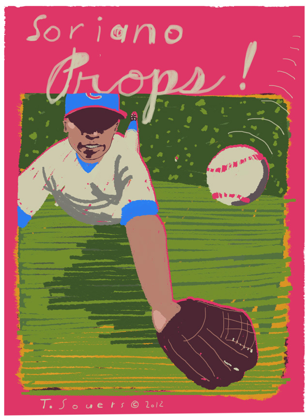 Alfonso Soriano,illustration,cartoon,art image
