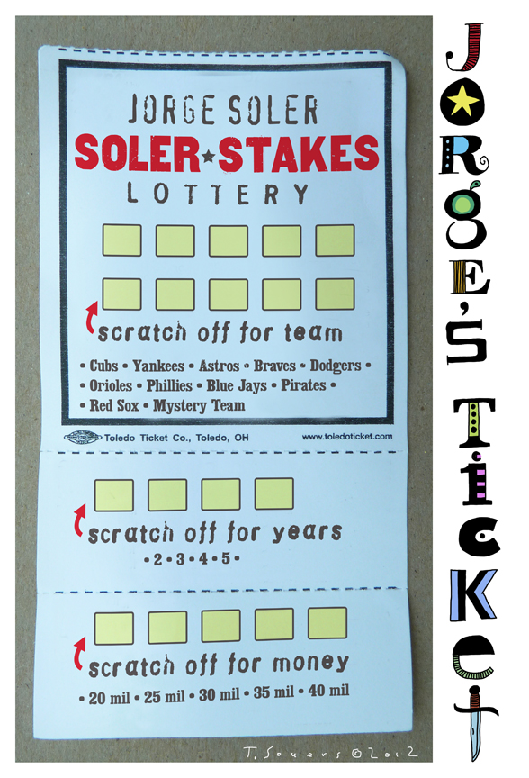 Jorje soler,lottery ticket,chicago cubs