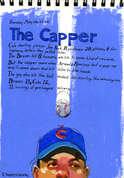 Aramis Ramirez, Chicago Cubs, ball drop, cartoon