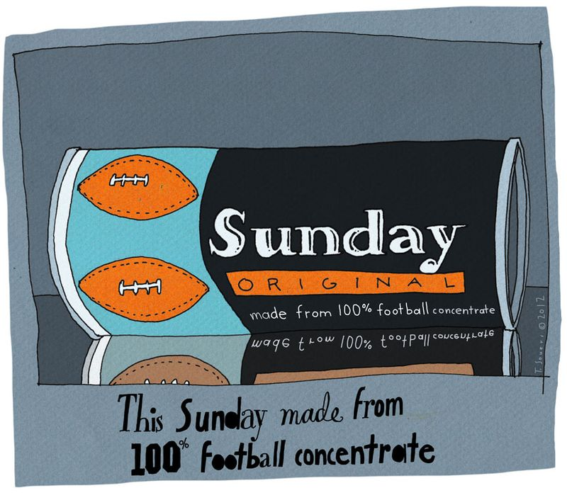 Football,cartoon,sunday,made from 100% concentrate