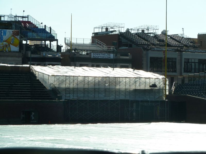 Wrigley field,budweiser patio,right field bleachers
