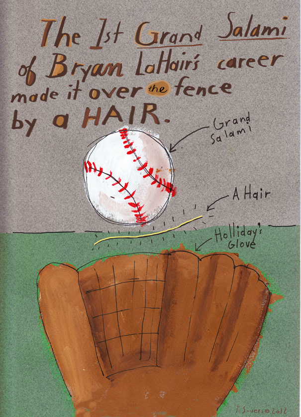 Byran LaHair,grand slam,cartoon,drawing,art image