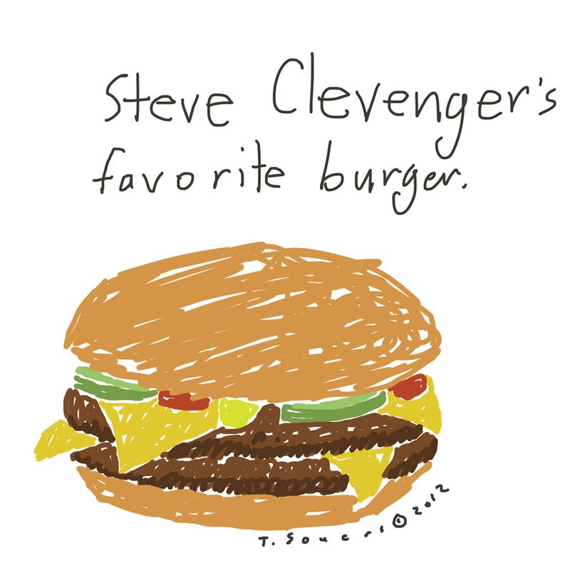 Steve Clevenger,double cheeseburger,cartoon