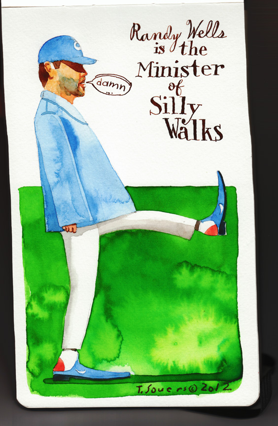 Minister of silly walks,Randy Wells,chicago cubs,cartoon