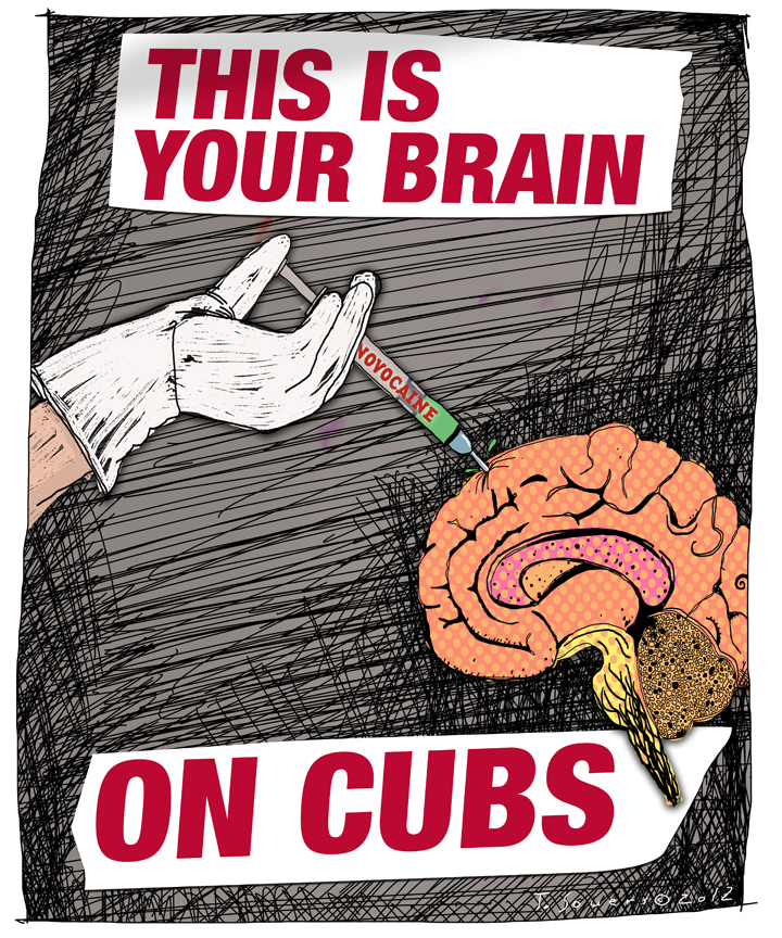 Chicago cubs,novocaine,mind numbing,cartoon