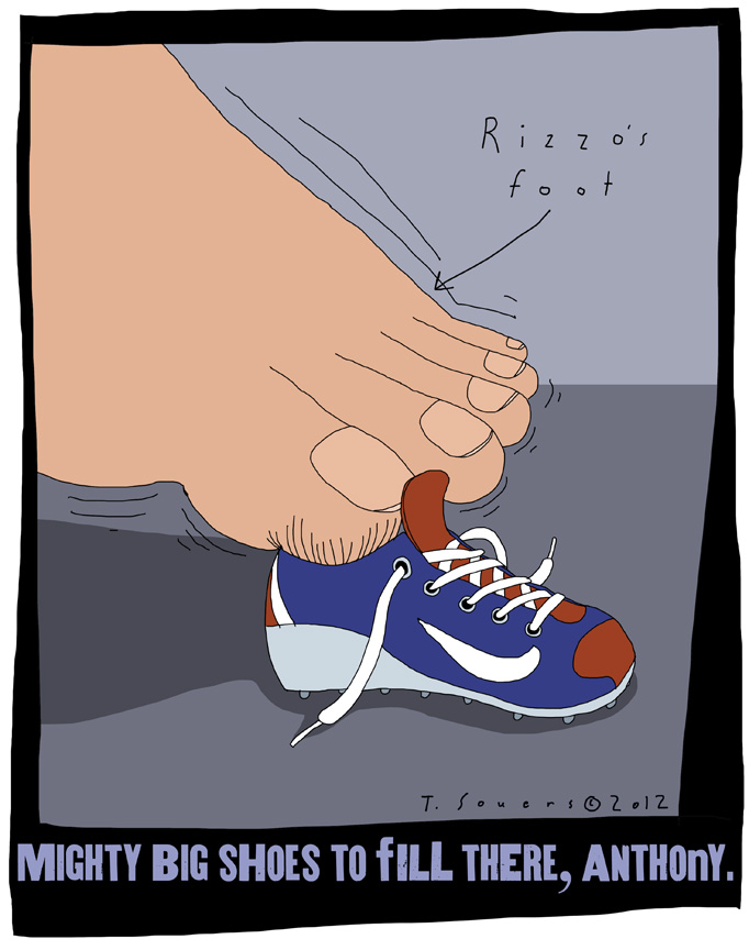 Anthony Rizzo,big shoes to fill,chicago cubs,cartoon