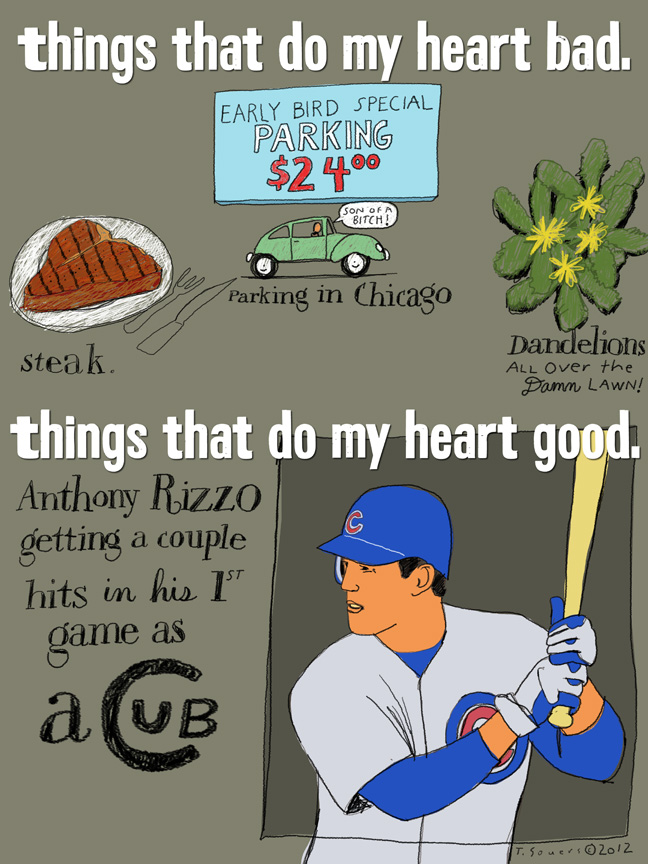 Anthony Rizzo,heart,chicago cubs,caroon