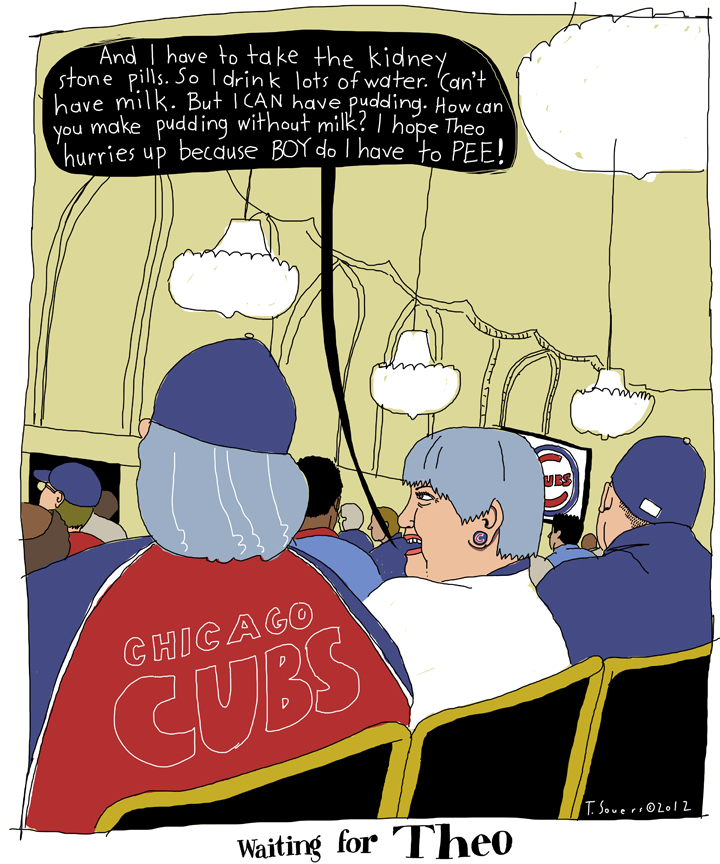 Cubs Convention, Ladies conversation, cartoon