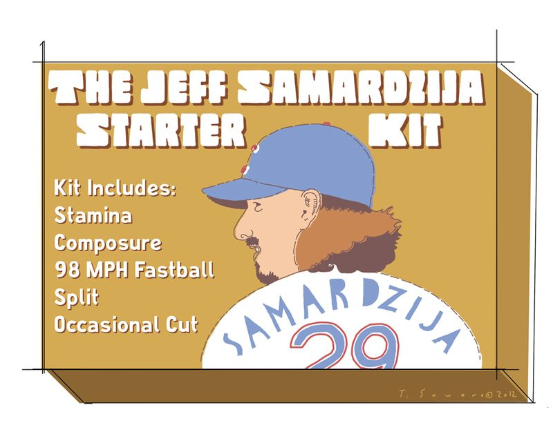 Jeff Samardzija,cartoon,illustration