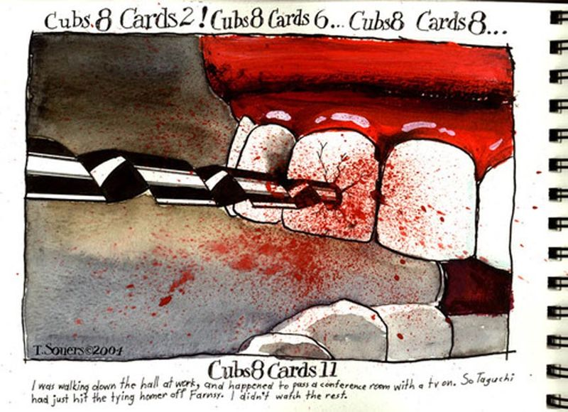 Chicago Cubs,root canal,cartoon