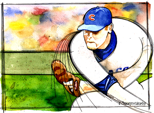 Kerry Wood,illustration,pitch