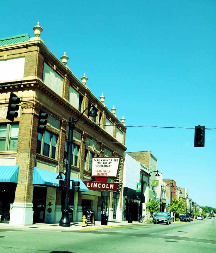 Belleville, lincoln theatre, downtown
