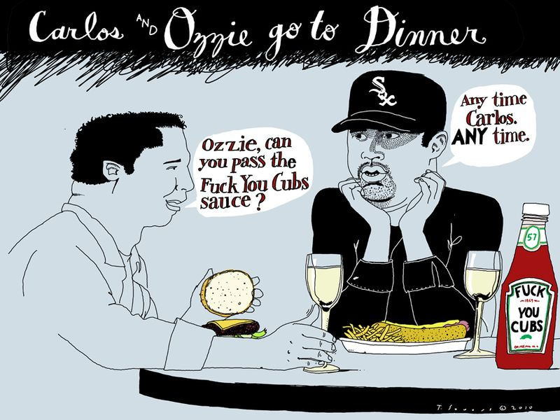 Ozzie Guillen,Carlos Zambrano,dinner