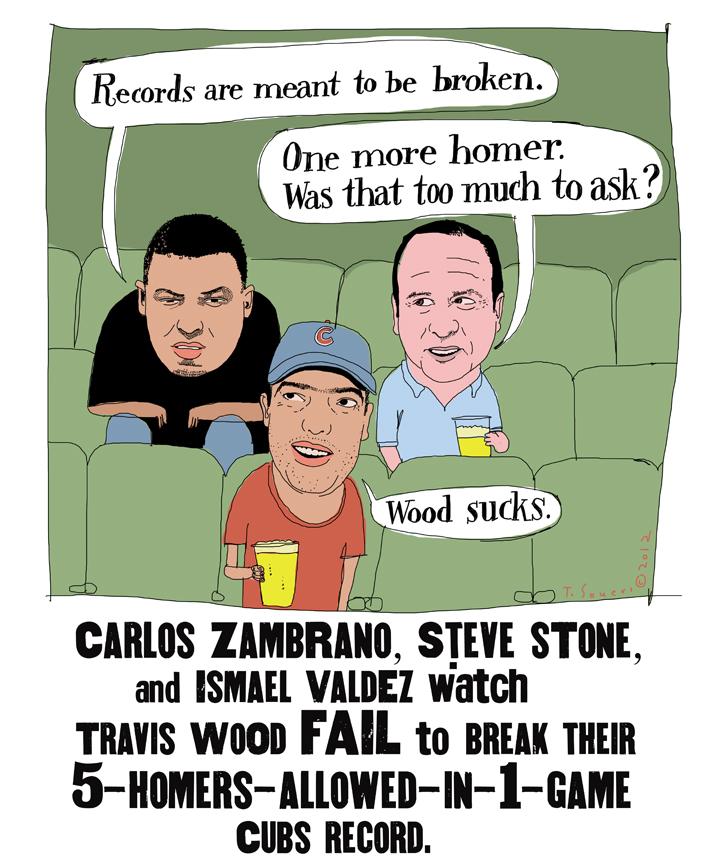 Carlos Zambrano, Steve Stone, Ismael Valdez,cartoon