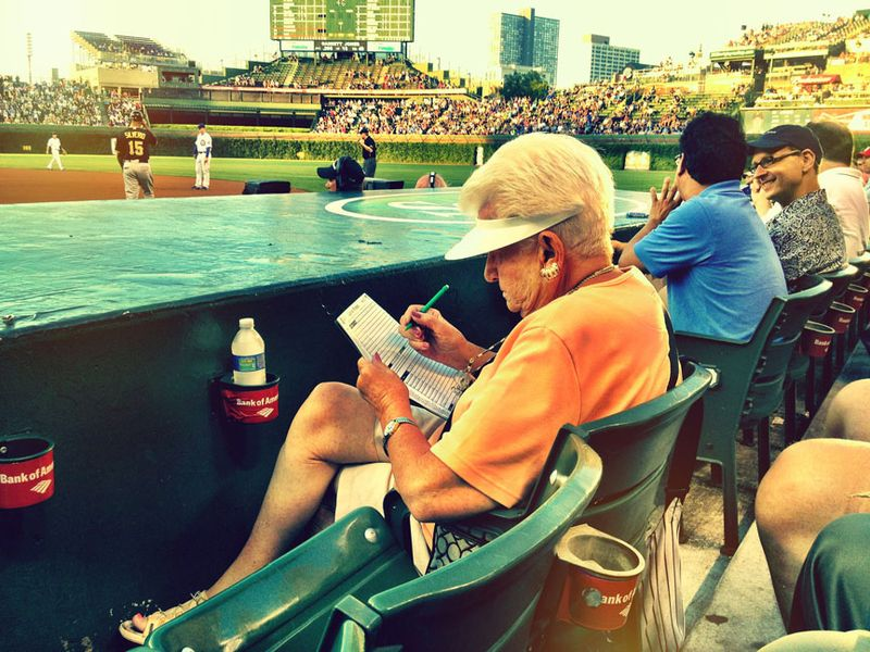 Wrigley Field,keeping score