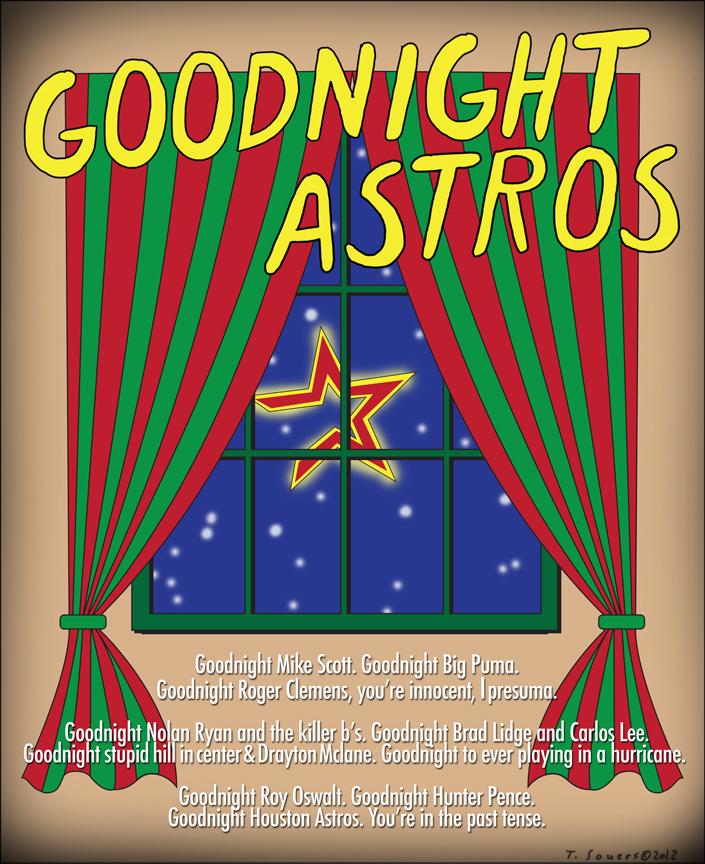 Goodnight Astros, cartoon