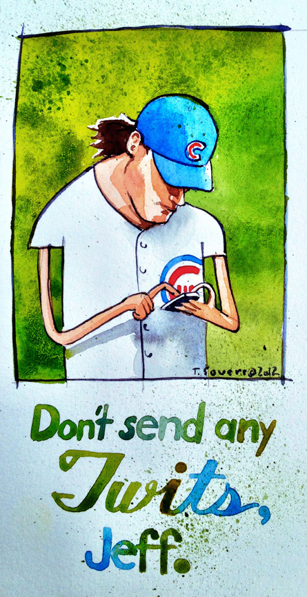 Jeff Samardzija, tweeting