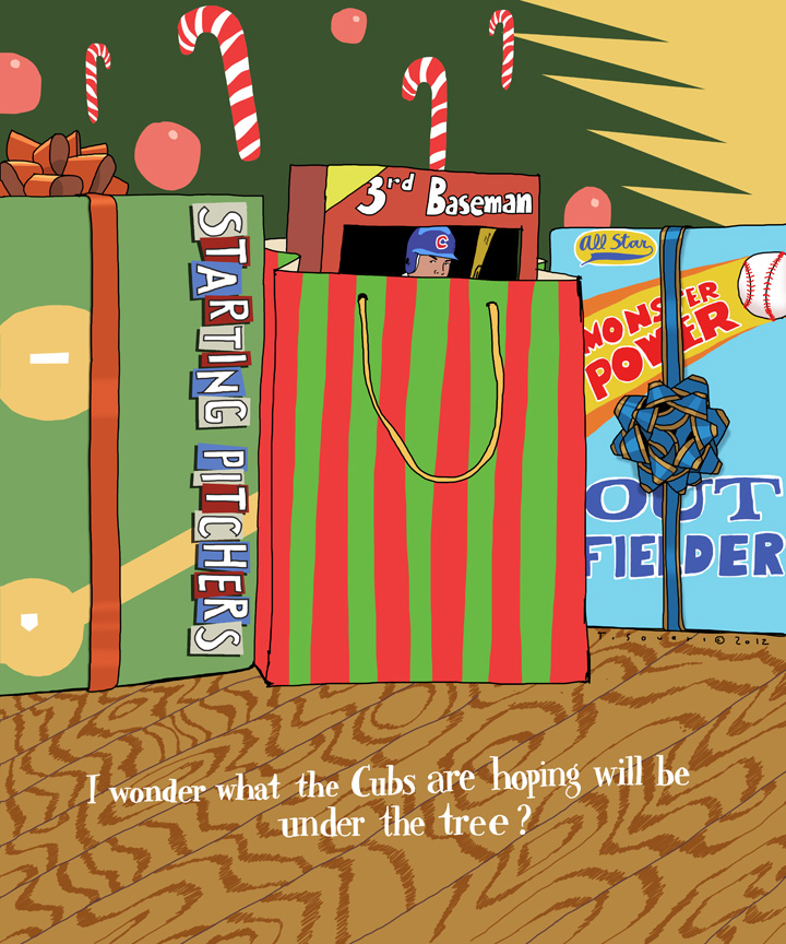 HolidayWishes,chicago cubs,cartoon