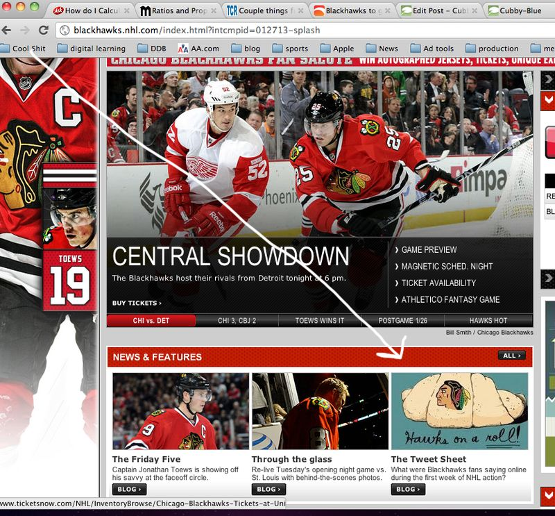 Cubby blue on blackhawks.com