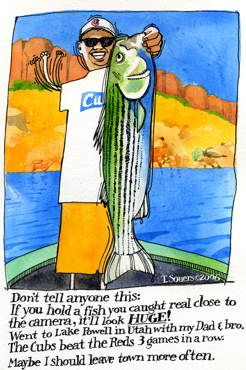 Make your fish look bigger.cartoon